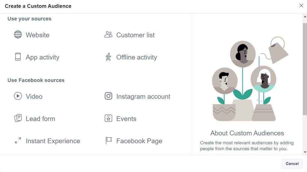 facebook ad targeting custom audience