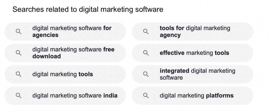 searches related to digital marketing software