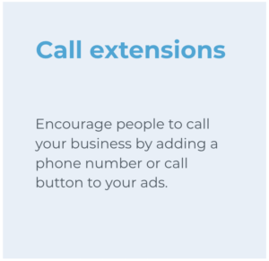 Call extensions
