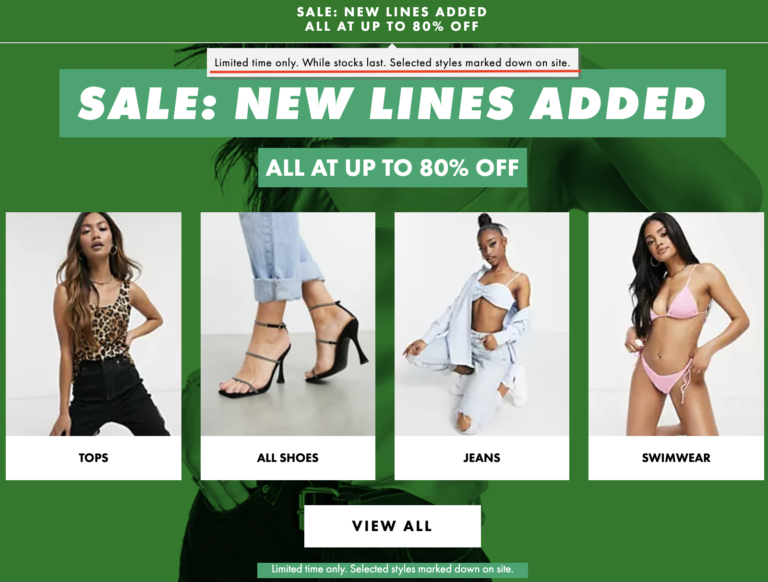 create a sense of urgency to improve the add to cart rate